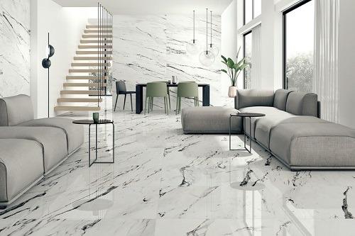 Gạch lát nền phòng khách 80×80 mang đến sự sang trọng, đẳng cấp cho không gian