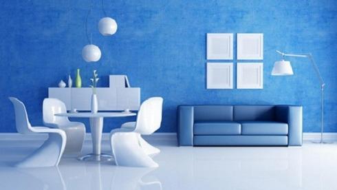 Gam màu xanh – trắng mang lại nét đẹp nhẹ nhàng, thanh lịch