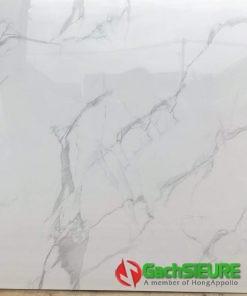 Gạch bóng kiếng lát nền 60×60 vitto trắng vân mây sale giá rẻ