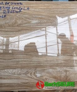 Gạch lát nền giả gỗ 60×60 vân gỗ siêu bóng kiếng giá rẻ