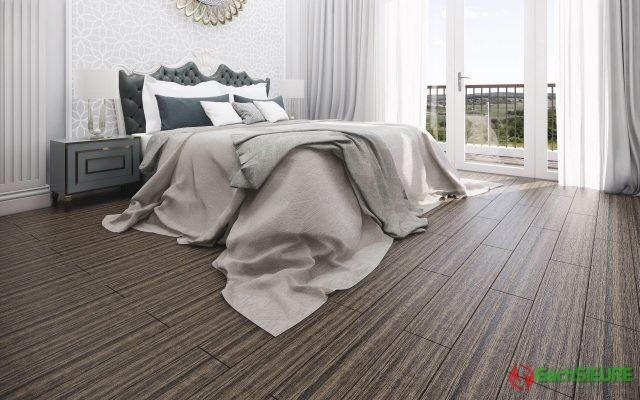 Phối cảnh gạch giả gỗ lát cho phòng ngủ