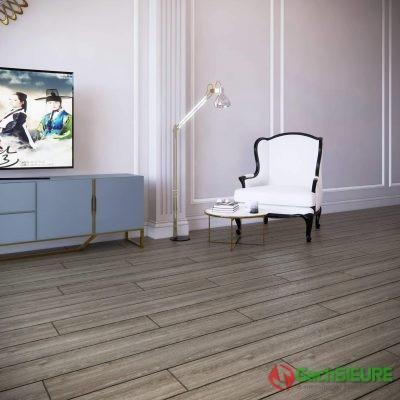 phối cảnh gạch giả gỗ lát nền phòng khách