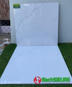 Gạch 60×60 bóng kiếng trắng vân mây giảm giá sale