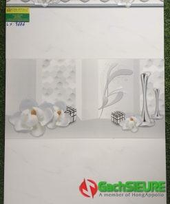 Gạch dán tường 30×60 trắng vân mây Royal cao cấp hoàng gia