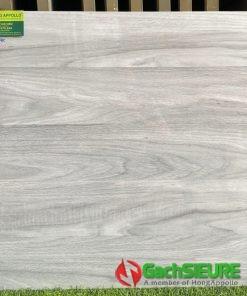 Gạch lát nền giả gỗ 60×60 xám bóng kiếng phòng khách sang trọng