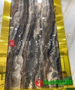 Gạch 120×240 Bóng Kiếng Nhập Khẩu Ấn Độ Đá Marble Đen