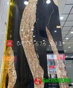 Gạch ấn độ nhập khẩu 120×240 đen vân vàng bóng kiếng cao cấp