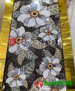 Gạch nhập khẩu ấn độ 120×240 bông hoa văn trang trí đẹp bóng kiếng cao cấp