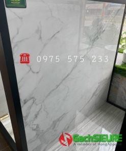 Gạch Bóng Kiếng 120×120 Đá Marble Trắng Vân Khói Xám