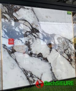 Gạch Bóng Kiếng 120×120 Khổ Lớn Đá Marble Trắng Đen