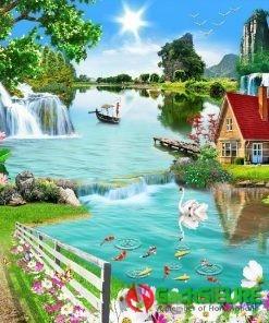Bức gạch tranh cảnh người và vạn vật thiên nhiên đẹp nhất 189