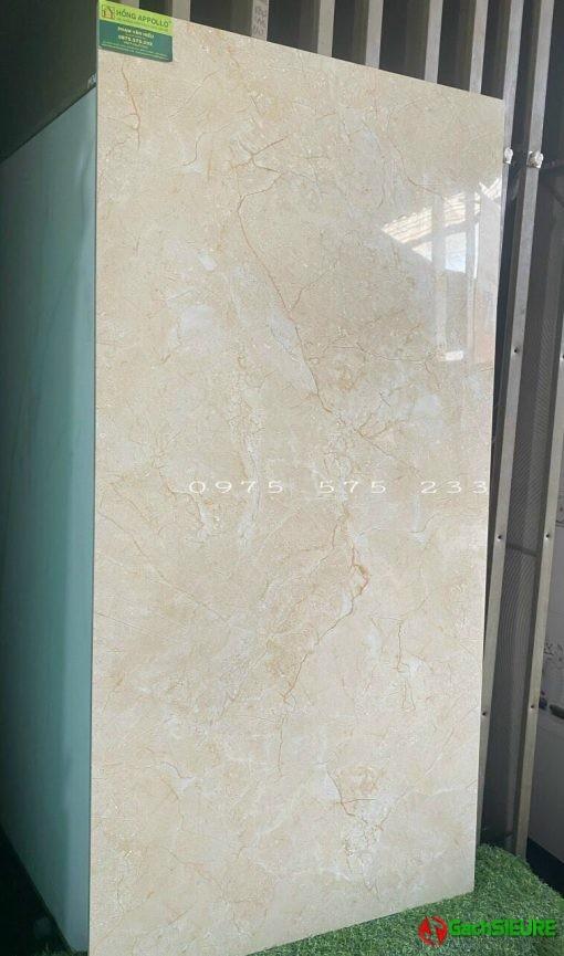 Gạch 60×120 bóng kiếng màu kem vàng giá sale