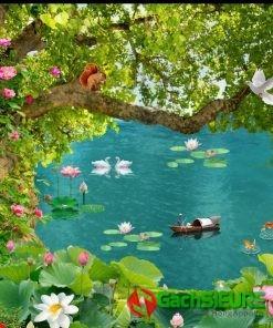 Những mẫu tranh về cảnh vật thiên nhiên đẹp gạch tranh trang trí 164