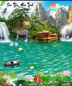 Gạch tranh sông nước núi non sơn thủy hữu tình cảnh đẹp 165