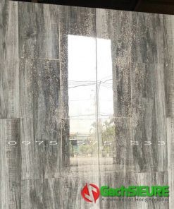 Gạch lát nền giả gỗ nhũ ánh kim 60×120 bóng kiếng cao cấp trung quốc
