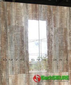 Gạch vân gỗ lát nền 60×120 ánh kim nhũ vàng bóng kiếng cao cấp