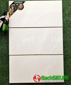 Gạch 40×80 dán tường trắng vân xám đẹp trung quốc