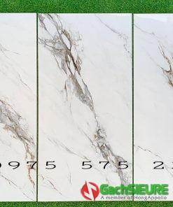 Gạch 60×120 trắng vân khói khắc kim bóng đồng chất cao cấp
