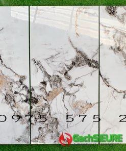 Gạch khắc kim 60×120 trắng vân siêu bóng đồng chất cao cấp