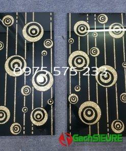 Gạch trang trí 30×60 khắc kim tuyến nhũ vàng đẹp cao cấp