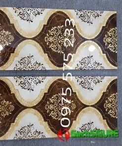 Gạch trang trí thảm 30×60 đá ép kính chựu lực khắc kim tuyến nhũ vàng đẹp cao cấp
