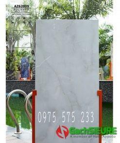 Gạch 60×120 vân trắng xanh bóng kiếng đẹp 09