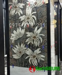 Gạch nhập khẩu bông hoa trang trí 60×120 ấn độ cao cấp