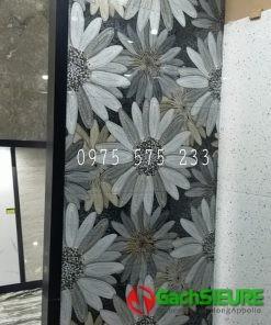 Gạch trang trí điểm nhấn 60×120 bông hoa đẹp