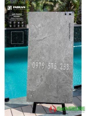Gạch 60x120 vân đá màu xám bóng kính ấn độ